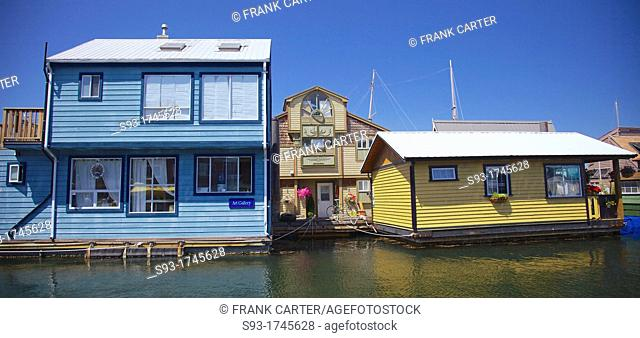 House boats in Victoria's inner harbour
