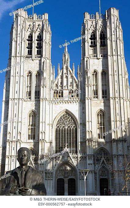 St  Michael and St  Gudula Cathedral, Brussels, Brabant, Belgium