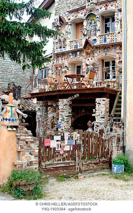 Main Facade of the Dutel House Dieulefit Drôme France