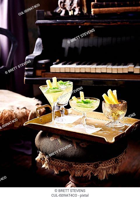 Malibu pineapple cocktails