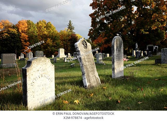 Chester Village Cemetery during the autumn months  Located in Chester, New Hampshire USA  Notes: The Chester Village Cemetery is listed on the National Register...