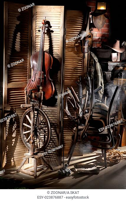 Still Life With Old Cello