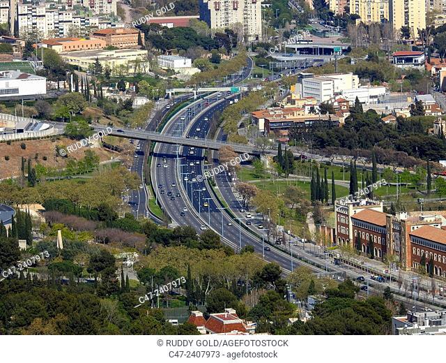 Ronda de Dalt, Besos direction, Barcelona, Catalonia, Spain