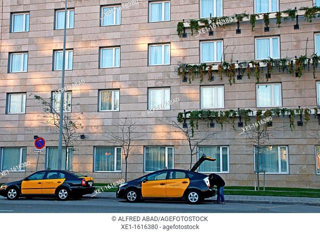 taxis, hotel Novotel, Cornella de Llobregat, Catalonia, Spain