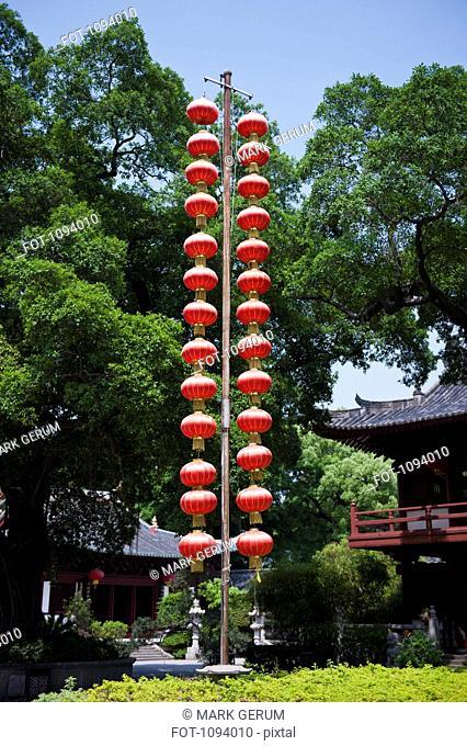 Hanging Chinese red Lanterns