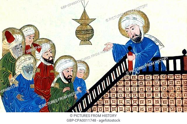 muhammad preaching stock photos and images age fotostock