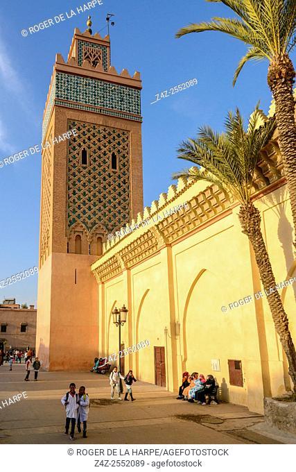 Mosquée (Mosque) Moulay El Yazid. Marrakesh or Marrakech. Morocco