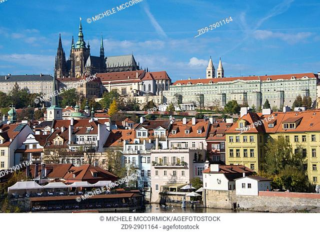 View of Prague Castle and St. Vitus Cathedral across the Vitava River, 10/16
