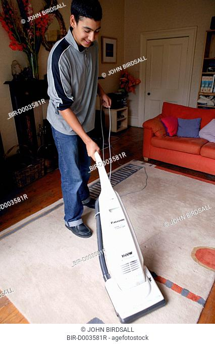 Youth doing housework