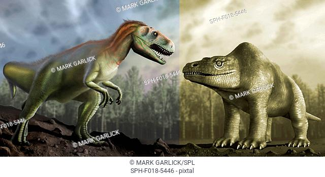 Megalosaurus is a genus of extinct meat-eating dinosaurs, theropods, from the Middle Jurassic period in EarthÔÇÖs history, 166 million years ago