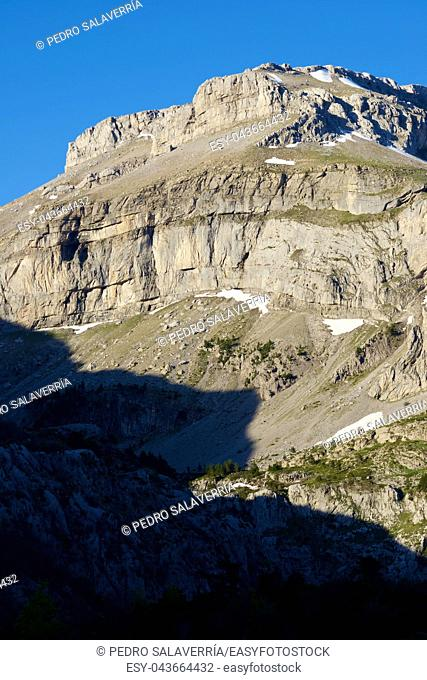 Bernera Peak in the Pyrenees, Aragues Valley, Aragon, Huesca, Spain