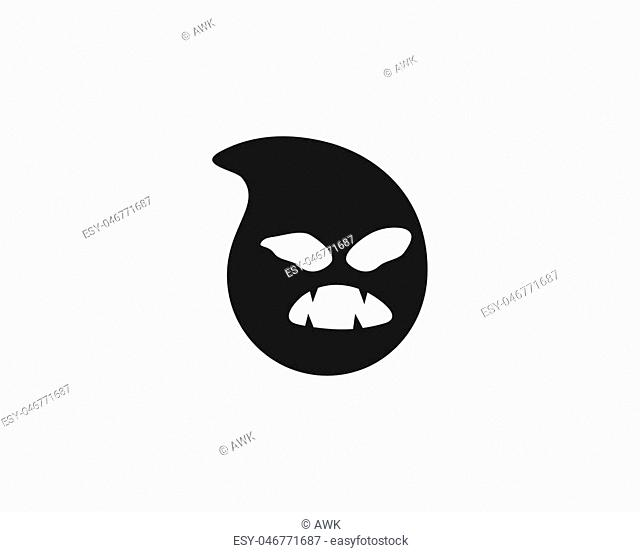 Ghost ilustration vector template