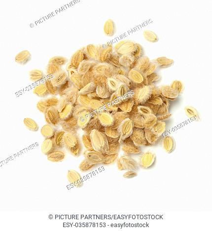 Heap of Ajwain fruit on white background