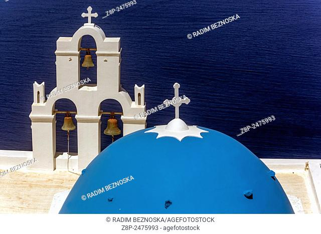 St Spirou Firostefani, Santorini, Cyclades, Greek Islands, Greece