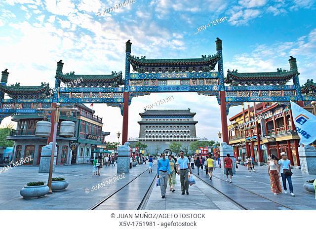 Archery tower, Qianmen Gate, , Tiananmen Square, Beijing, China