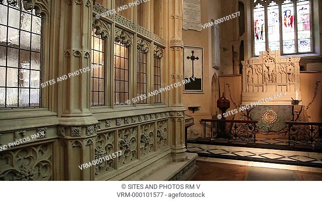 PAN, interior, the Gethsemane Chapel and the altar frontal. The Gethsemane frontal, from which the Chapel takes its present name