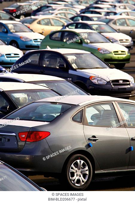 Automobiles in a Parking Lot