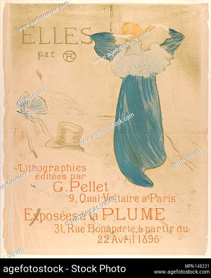 Elles (poster for 1896 exhibition at La Plume). Series/Portfolio: Elles, 1896; Artist: Henri de Toulouse-Lautrec (French