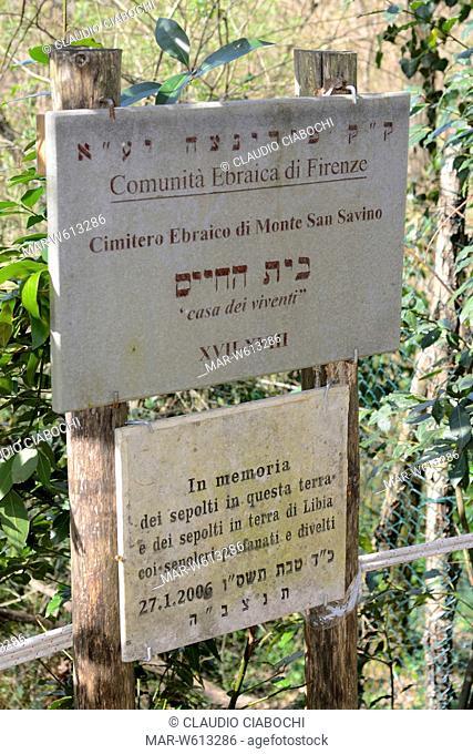 jewish cemetery, monte san savino, italy