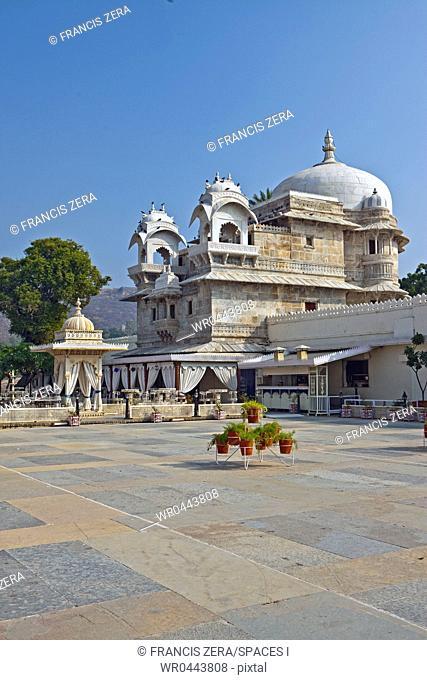 Courtyard at Jag Mandir Palace