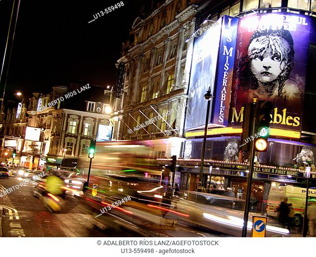 Queen's Theatre, Shafthesbury Avenue, West End of London, England