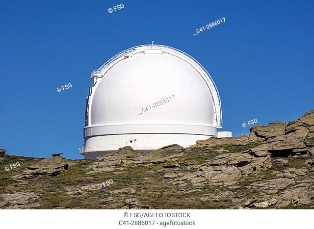 Calar Alto Astronomical observatory. Bacares. Sierra de los Filabres. Almería, Spain