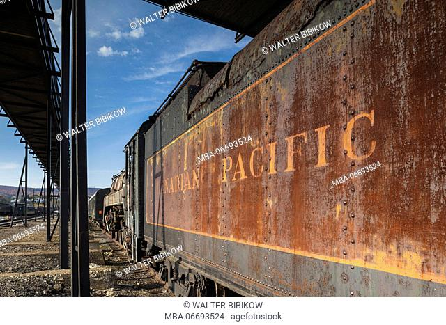 USA, Pennsylvania, Scranton, Steamtown National Historic Site, steam-era locomotive