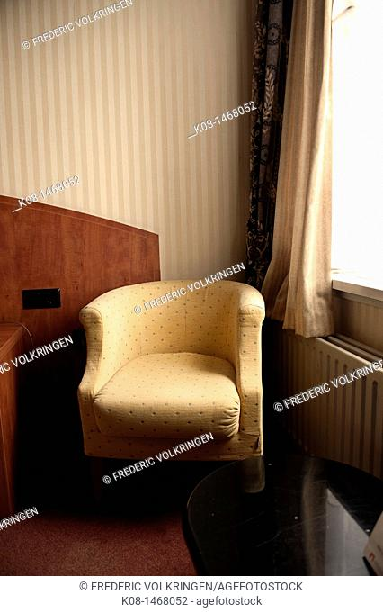 Armchair, bedroom, window