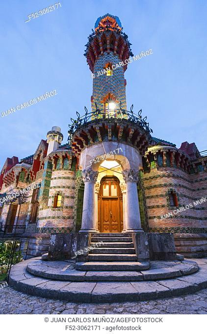 Villa El Capricho de Gaudí, designed by Antoni Gaudí, built in 1883-1885, Comillas, Cantabria, Spain, Europe