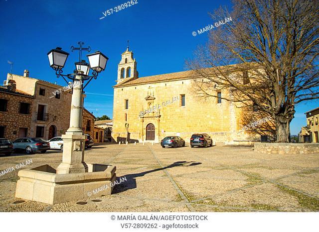 Don Juan Manuel Square. Alarcon, Cuenca province, Castilla La Mancha, Spain