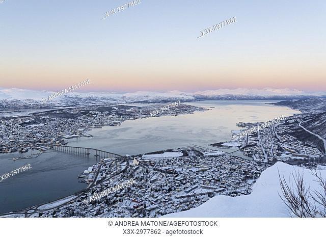 Tromso town. Sommaroy Island. Norway