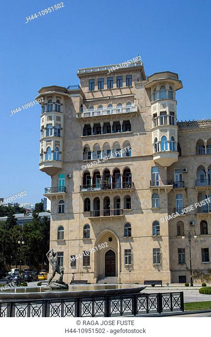 Azerbaijan, Caucasus, Eurasia, Bahram Gur, Baku, building, Funikiyor, architecture, city, monument