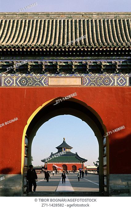 China, Beijing, Temple of Heaven, Chengzhen Gate