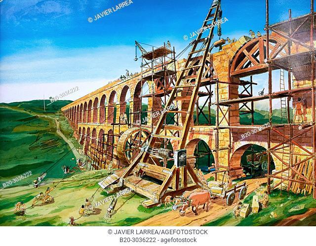 Aqueduct de les Ferreres, Pont del Diable Devil's Bridge Roman aqueduct, Tarragona, Catalonia, Spain