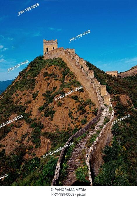 Perspective of Great Wall,Beijing