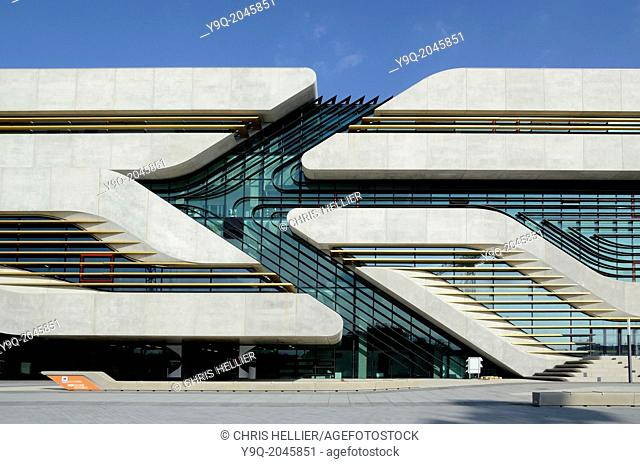 Entrance to Pierresvives Sports Centre by Zaha Hadid Montpellier France