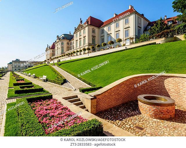 Poland, Masovian Voivodeship, Warsaw, Royal Castle eastern baroque facade