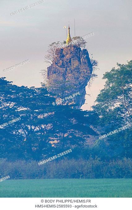 Myanmar, Burma, Karen state, Hpa An, Kyauk Kalap or Kyaik Ka Lat monastery