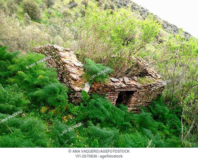 Falling house Iron Age, The Risco, Zorita, Extremadura, Spain
