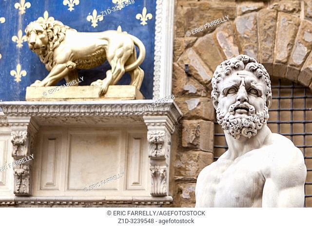 Statue of Hercules Piazza della signoria. Florence Italy