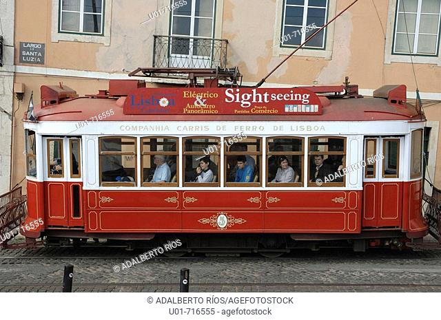 Old tramway, Lisbon, Portugal