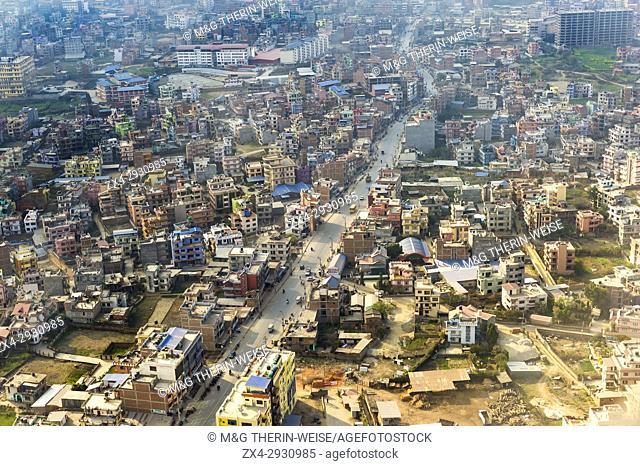 Aerial view of Kathmandu, Nepal