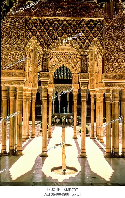 spain - andalusia - granada, a courtyard in the alhambra