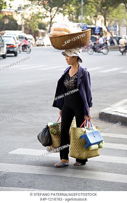 Street Hawker, Ho Chi Minh City, Vietnam