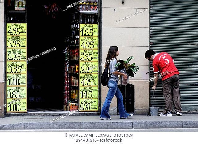 Grocer's in Gracia district, Barcelona. Catalonia, Spain
