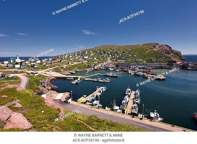 Village and harbour of Bay de Verde, Newfoundland and Labrador, Canada