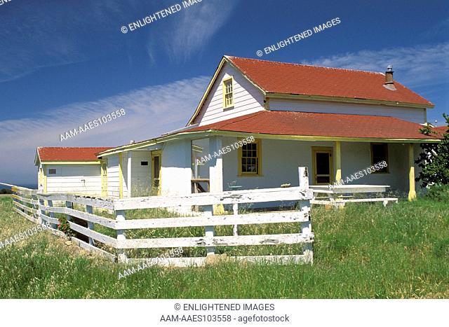 Christy Ranch in spring, West End, Santa Cruz Island, Channel Islands, California