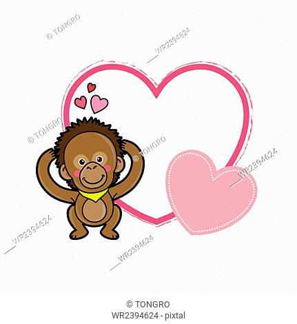 Copy space with orangutan image