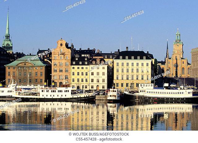 Skeppsborn dock. Gamla Stan Island. Stockholm. Sweden
