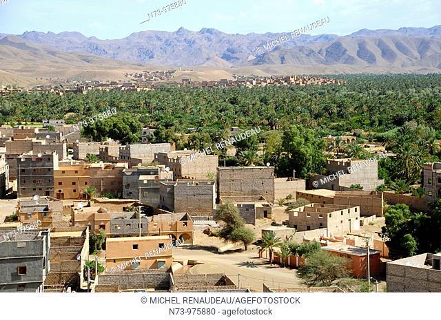 Maroc, Vallée du Drâa, palmeraie d'Agdz